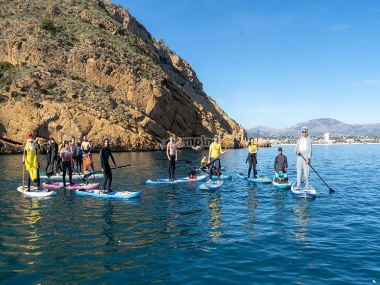 Paddle Surf por la costa de Altea