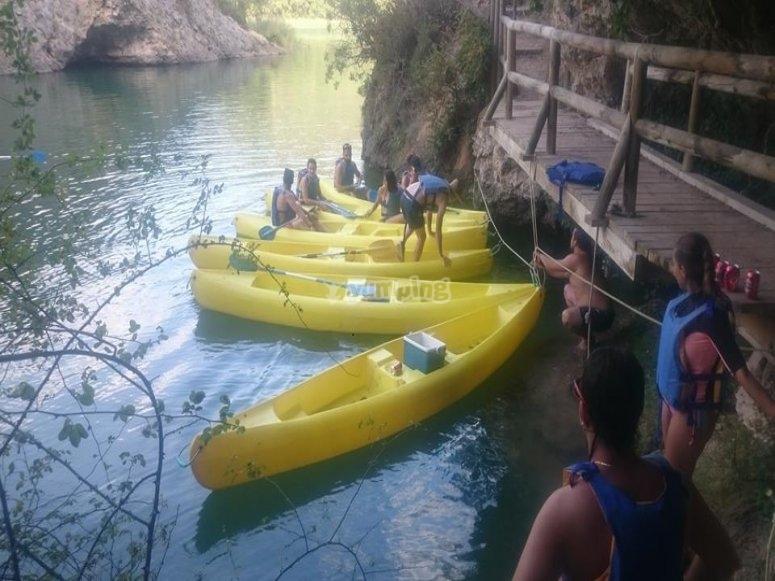 Canoa attraverso la Serrania de Cuenca