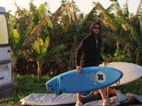 Preparing the boards for The surf