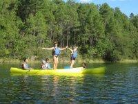 Bilanciamento sulla canoa