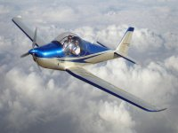 Light aircraft over the clouds