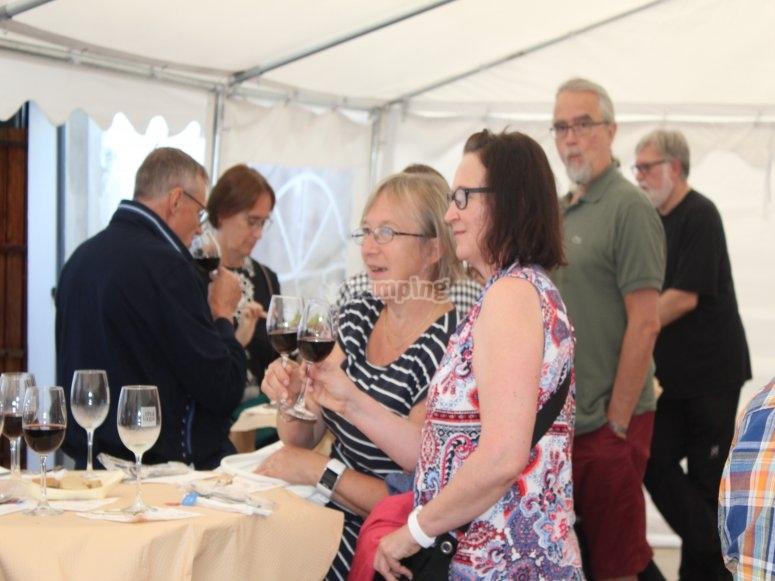 Almuerzo y cata de vinos en la bodega de Alora