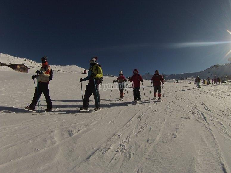 Raquetas de nieve Veleta