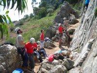 Preparando la escalada
