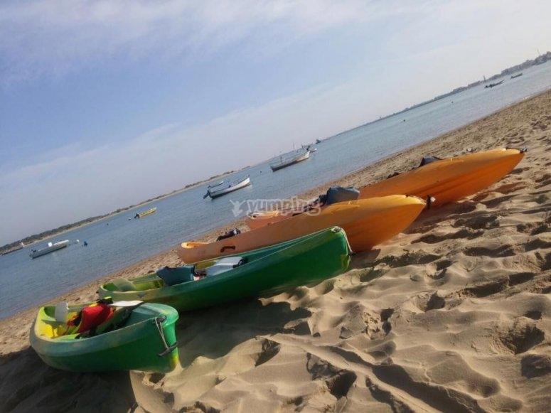En la playa de Sanlucar