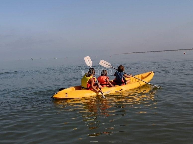 Kayak triplaza