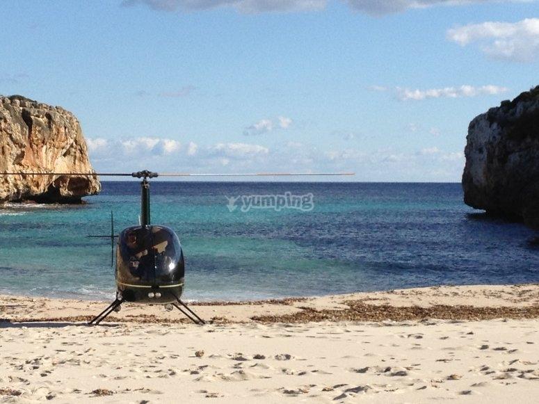 马略卡岛的惊人直升机景观