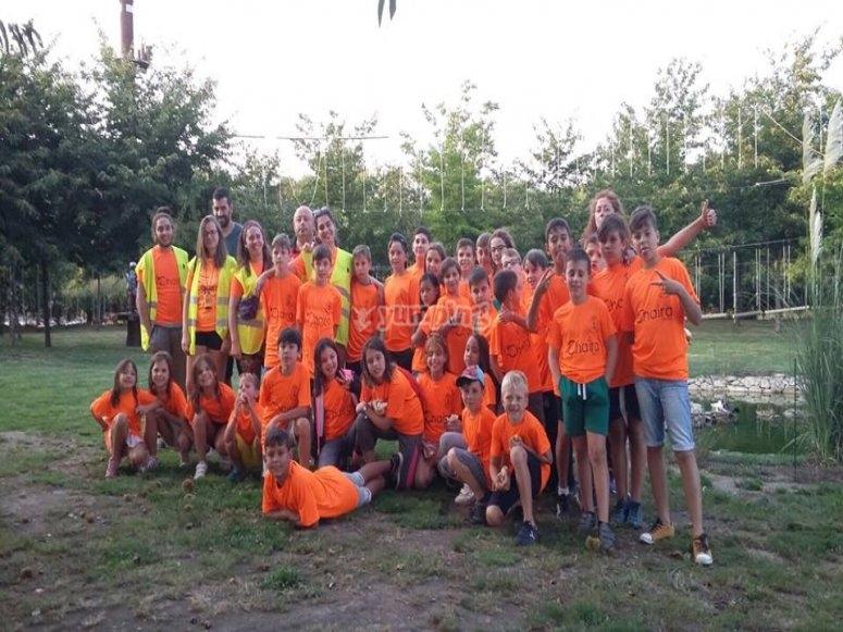 Alumnos y alumnas en las actividades de Galicia