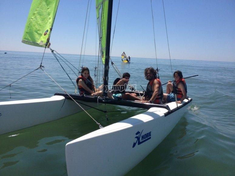 Iniciacion a actividades nauticas en Isla Cristina