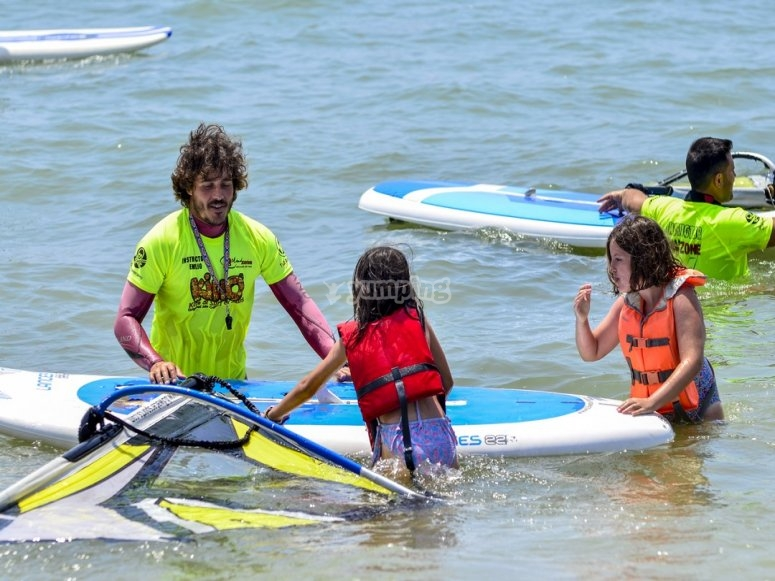 Iniciacion a deportes nauticos en Isla Cristina
