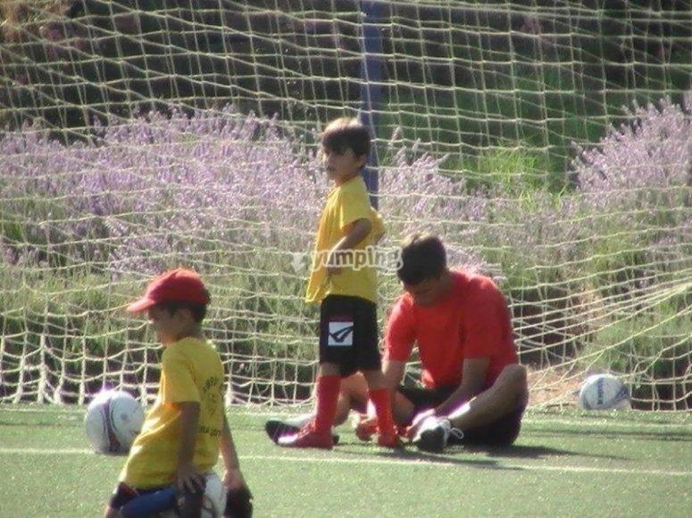 拉加雷纳(La Garena)足球校区最年轻的足球