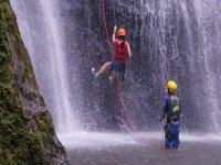 descending waterfall