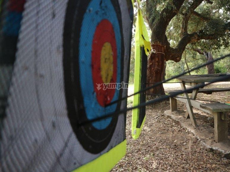 La diana del tiro con arco