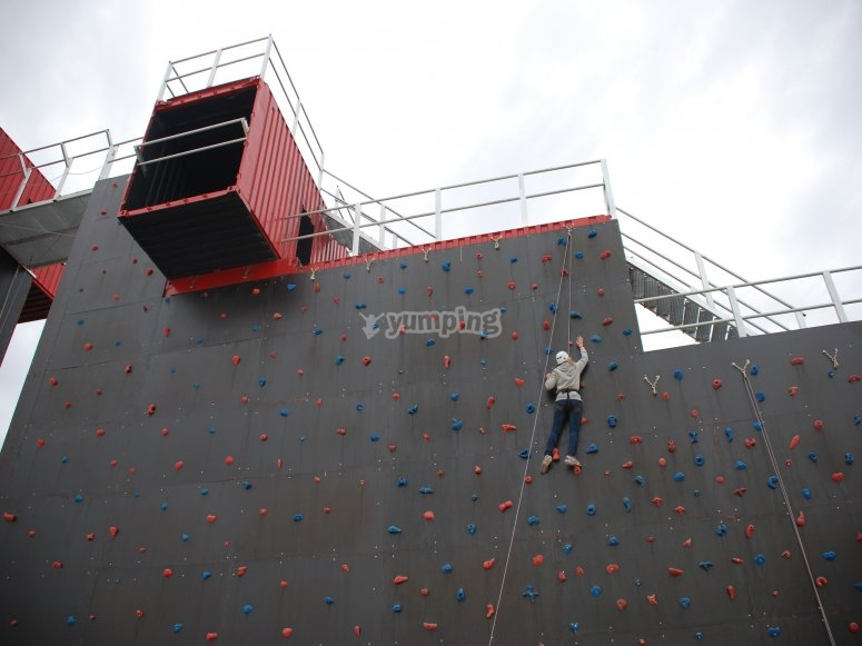 climbing wall for beginners and advanced