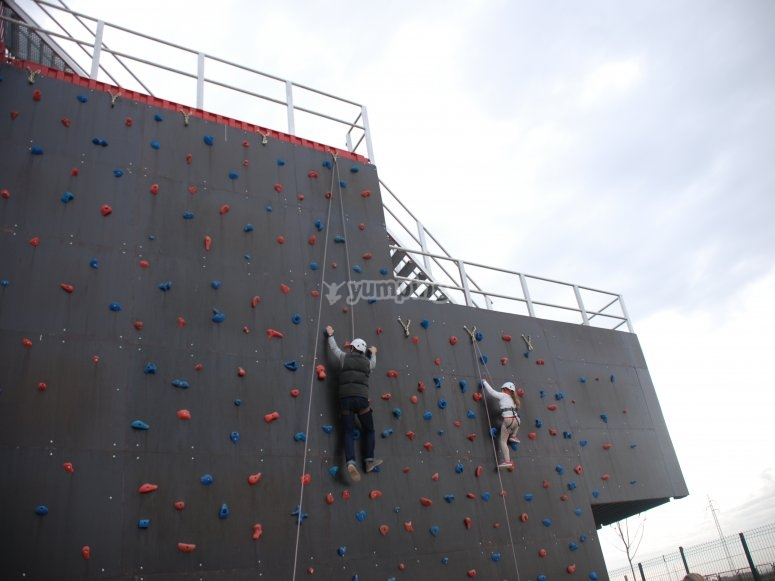 Climbing wall in Seville