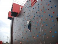 Climbing wall in Las Graveras Leisure Park 30 min