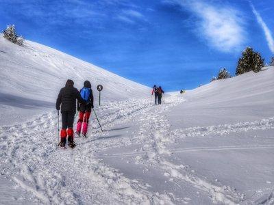 在Solsonés的雪鞋行走路线6小时