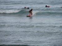 Surfeando en el campamento