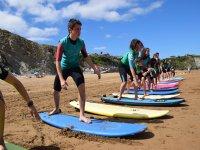 Trabajando la tecnica de surf