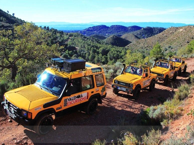 Jeeps en fila