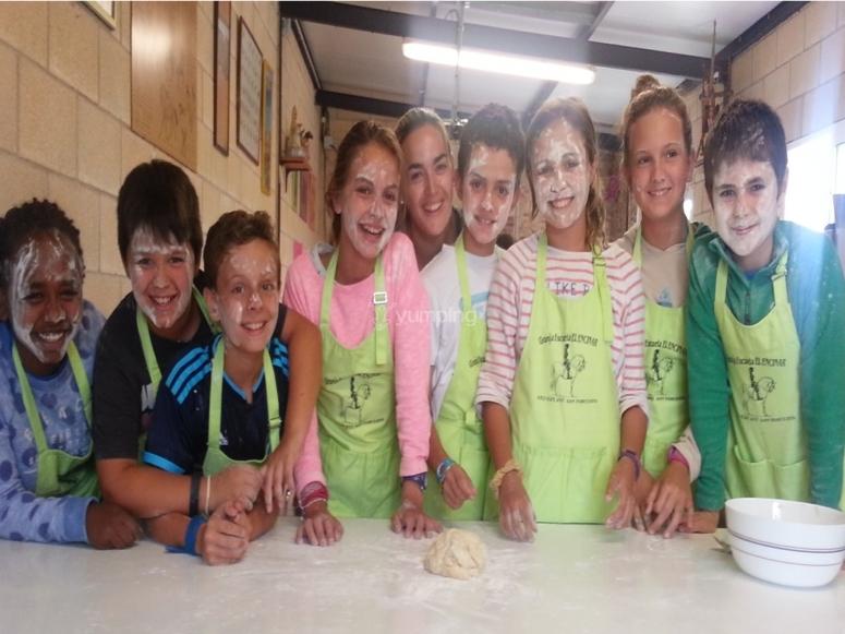 Talleres de cocina en la granja escuela