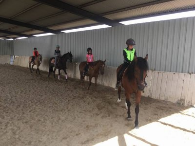 Collective horse riding class San Torcuato