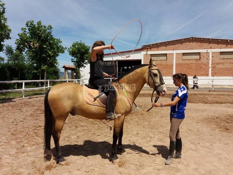Collective horse riding classes San Torcuato
