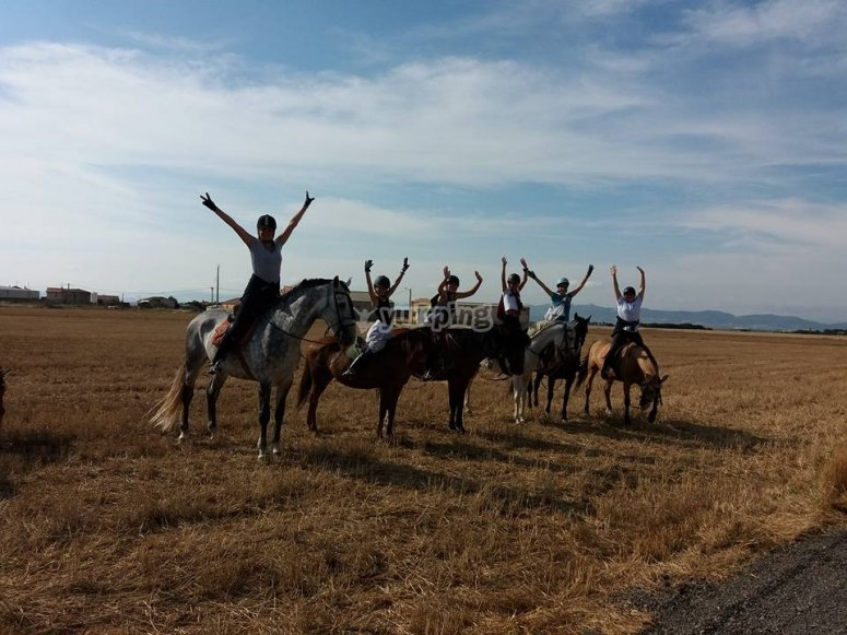 Horse riding tour in nature