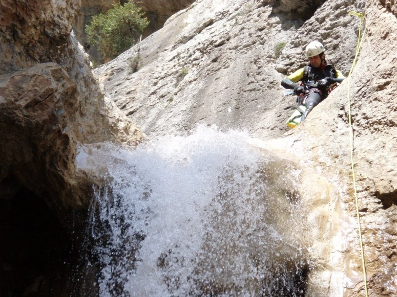 Exciting canyon descent