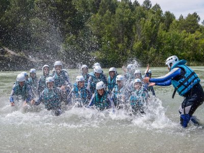Paintball e rafting cervo / gallina / a Huesca