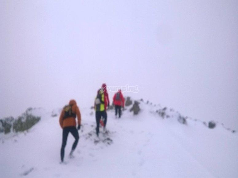 在内华达山脉进行雪靴游览
