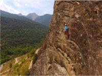 岩壁爬在El Pallars 3小时
