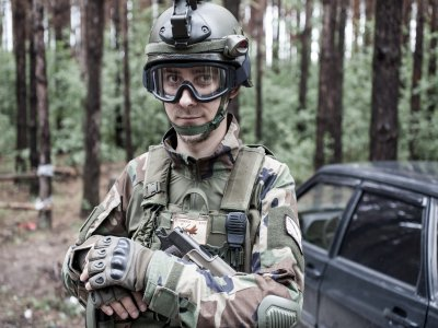 Addio al celibato Airsoft / festa di Madrid
