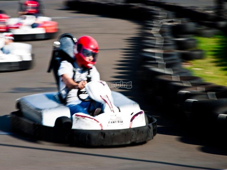 La carrera de karts en Ciempozuelos