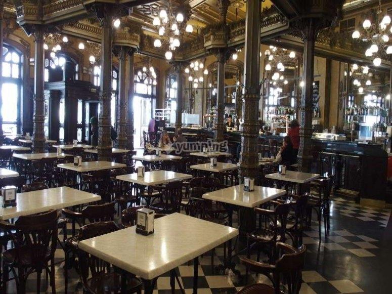 El cafe iruna de Pamplona