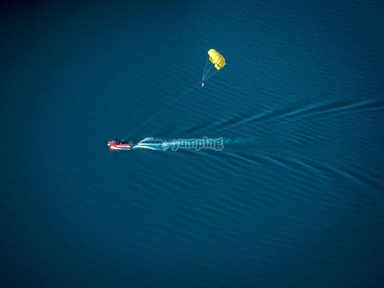 Vista aerea del barco de SantaPola