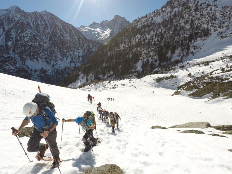 Route en raquettes à travers les Pyrénées catalanes