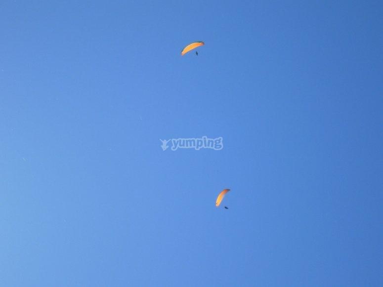 Paraglide in the sky of Guadalajara