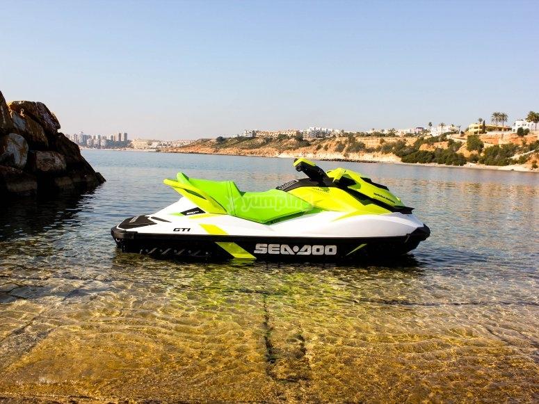 Green Sea Doo jet ski