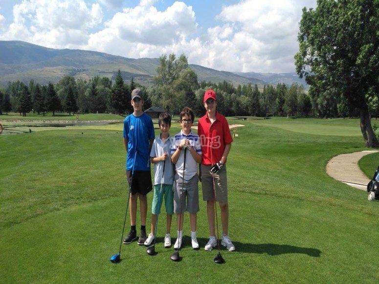 Alumnos de golf