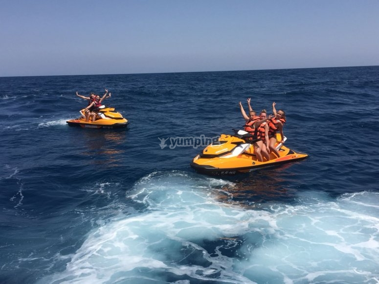 Jet ski activities with friends