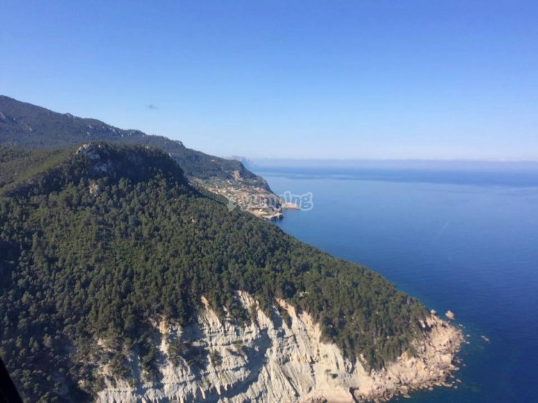 Viste dell'isola dall'elicottero