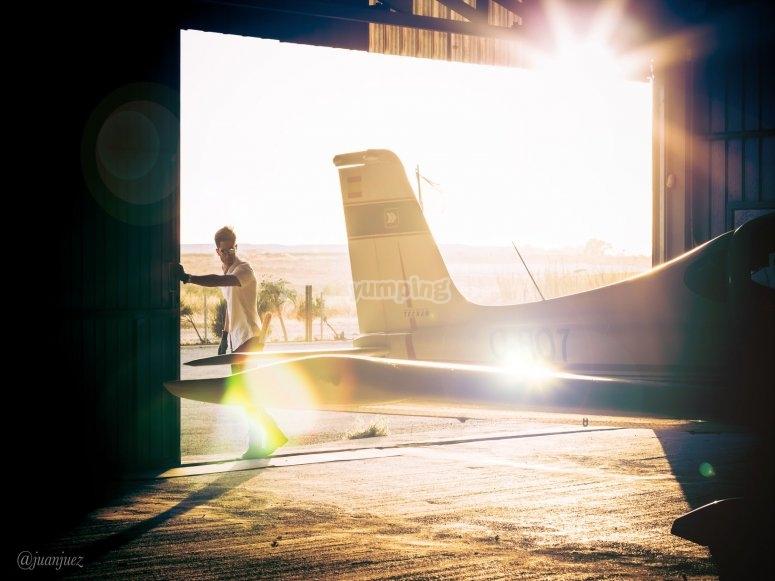 Elicottero nell'aerodromo Son Bonet
