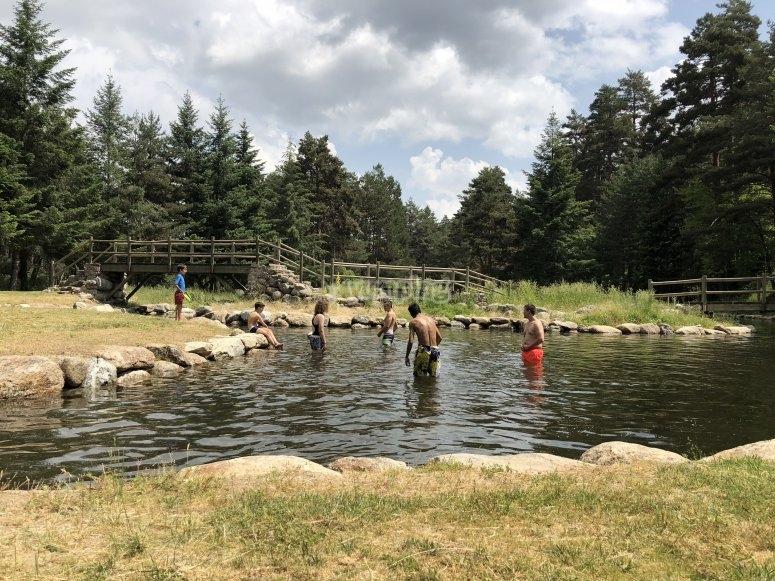 Baño en piscinas naturales