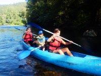 Ruta canoa bajo Eo 5 kilómetros para niños Abres