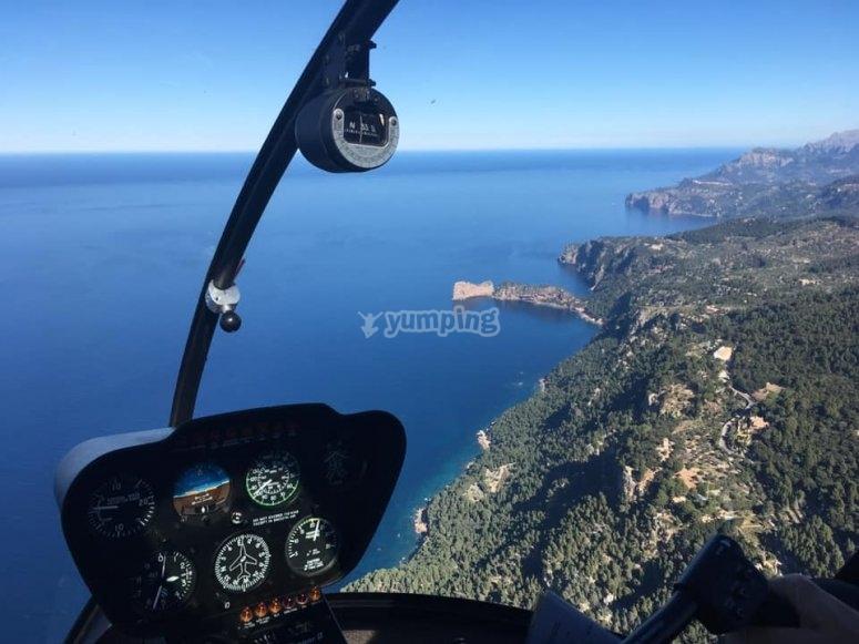 直升机座舱风景