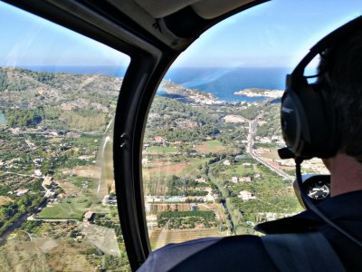 Flight over Palma de Mallorca on helicopter 15 min