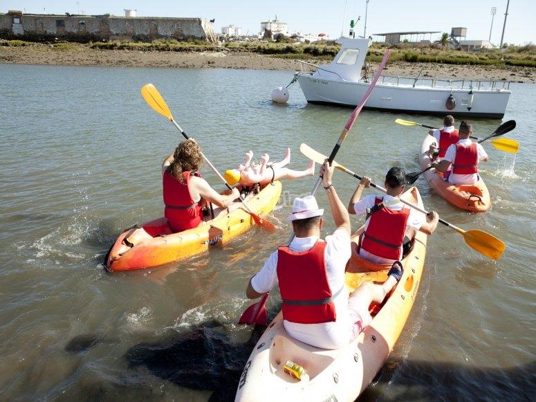 Ruta en kayaks con amigos