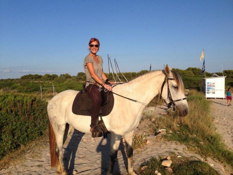 Uno de nuestros caballos durante la ruta