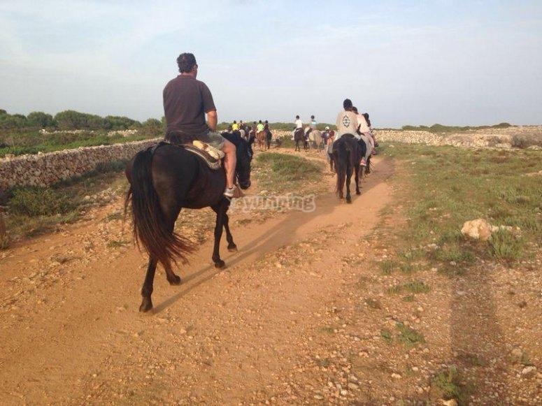 Ruta a caballo en Menorca